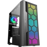 AvP Hexa Mid Tower Gaming Case - Black USB 3.0