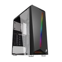 1st Player Rainbow R3 Mid Tower Gaming Case - Black USB 3.0