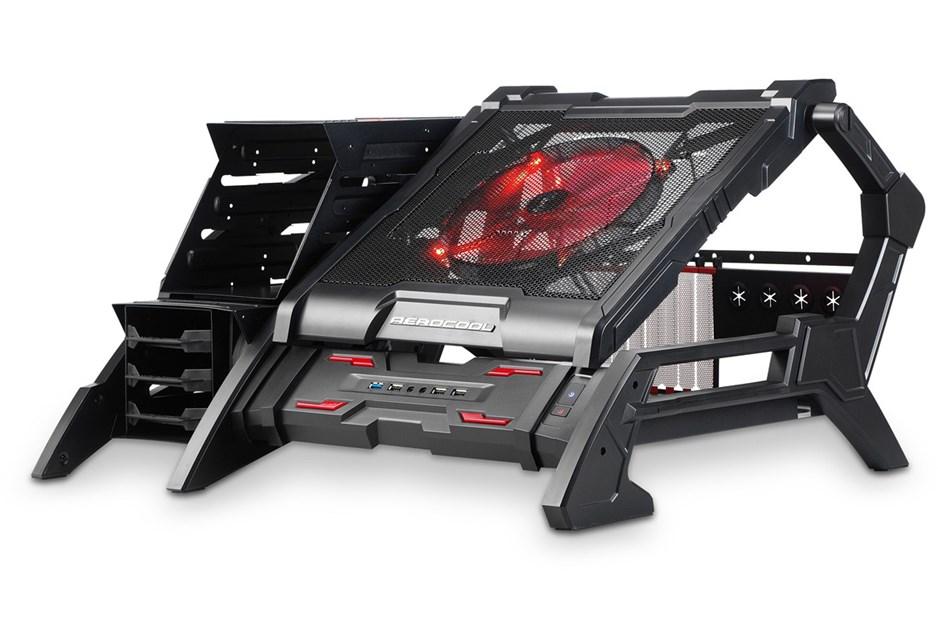 Aero Cool Strike X Air Open Frame Black Midi Tower Gaming