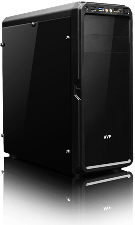 AvP X6 Mid Tower Gaming Case - Black