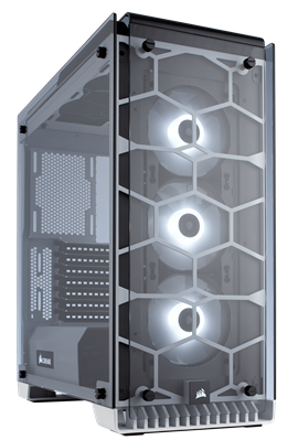 Corsair Crystal Series 570X Mid Tower Case - White