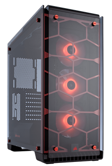 Corsair Crystal Series 570X Midi Tower Red Case
