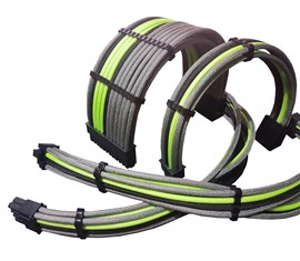 CCL Choice Custom PSU Extension Cables - Green/ Black/ Grey
