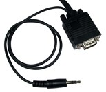 (5m) SVGA Male to Male Cable with 3.5mm Audio (Black)