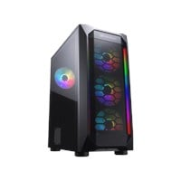 Cougar MX410 Mesh-G RGB Mid Tower Gaming Case - Black USB 3.0