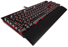 Corsair Vengeance K70 LUX Mechanical Gaming Keyboard Red LED (Black) - Cherry MX Red