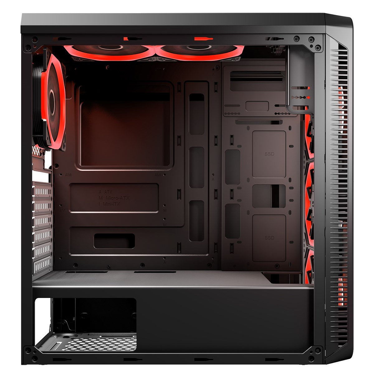 CiT Blaze Mid Tower Gaming Case - Black USB 3 0