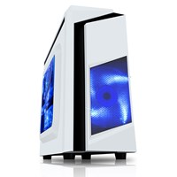 CiT F3 Mid Tower Gaming Case - White USB 3.0