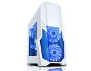 CiT G Force White Gaming Midi Tower Case