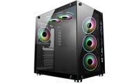 CiT Jupiter Mid Tower Gaming Case - Black USB 3.0