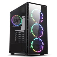 CiT Raider Mid Tower Gaming Case - Black USB 3.0