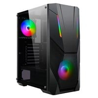CiT Master Mid Tower Gaming Case - Black USB 3.0