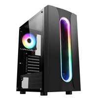 CiT Sauron Mid Tower Gaming Case - Black USB 3.0