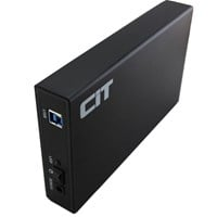 CiT 3.5 USB 3.0 SATA Aluminium HDD Enclosure U3YA Black