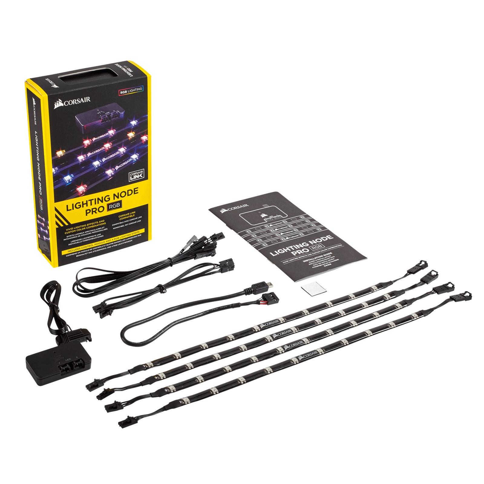 Corsair lighting node pro rgb led lighting kit cl 9011109 ww ccl corsair lighting node pro rgb led lighting kit freerunsca Choice Image