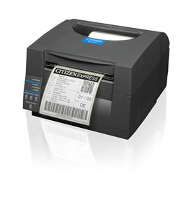 Citizen CL-S521 Direct Thermal Label Printer with RS232 & USB (Grey)