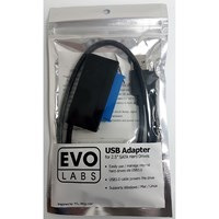 Evo Labs USB 3.0 A (M) to SATA (M) Black Retail Packaged Converter Adapter Cable - For use with 2.5 Hard Drives and SSD