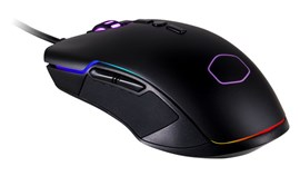 Cooler Master CM310 USB Gaming Mouse, 6 Buttons, RGB LED, Ambidextrous Grip, Black