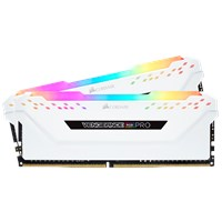 Corsair Vengeance RGB PRO 16GB (2 x 8GB) Memory Kit PC4-28800 3600MHz DDR4 DIMM C18 (White) *Open Box*