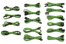 Corsair Professional Individually sleeved DC Cable Kit, Type 3 (Generation 2), GREEN