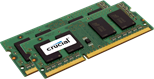 Crucial 4GB Memory Kit (2x2GB) PC3-12800 1600MHz DDR3 Unbuffered Non-ECC CL11 204-pin SO-DIMM