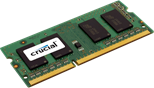 Crucial 2GB Memory Module PC3-12800 1600MHz DDR3 Unbuffered Non-ECC CL11 204-pin SO-DIMM (Single Rank)