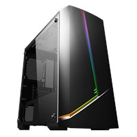 CS1001 Mid Tower Gaming Case - Black USB 3.0
