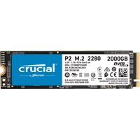 Crucial P2 M.2-2280 2TB PCI Express 3.0 x4 NVMe Solid State Drive