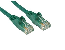 0.25m CAT 5E Moulded Patch Cable (Green)