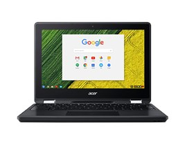 "Acer Chromebook Spin 11 R751TN-C1Y9 - Flip design - Celeron N3350 / 1.1 GHz - Chrome OS - 4 GB RAM - 32 GB eMMC - 11.6"" AHVA touchscreen 1366 x 768 (HD) - HD Graphics 500 - Wi-Fi, Bluetooth - obsidian black - kbd: UK"
