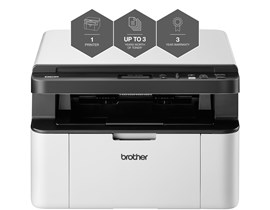 Brother DCP-1610W Multifunction Wireless Monochrome Laser Flatbed Printer (Print, Copy, Scan)