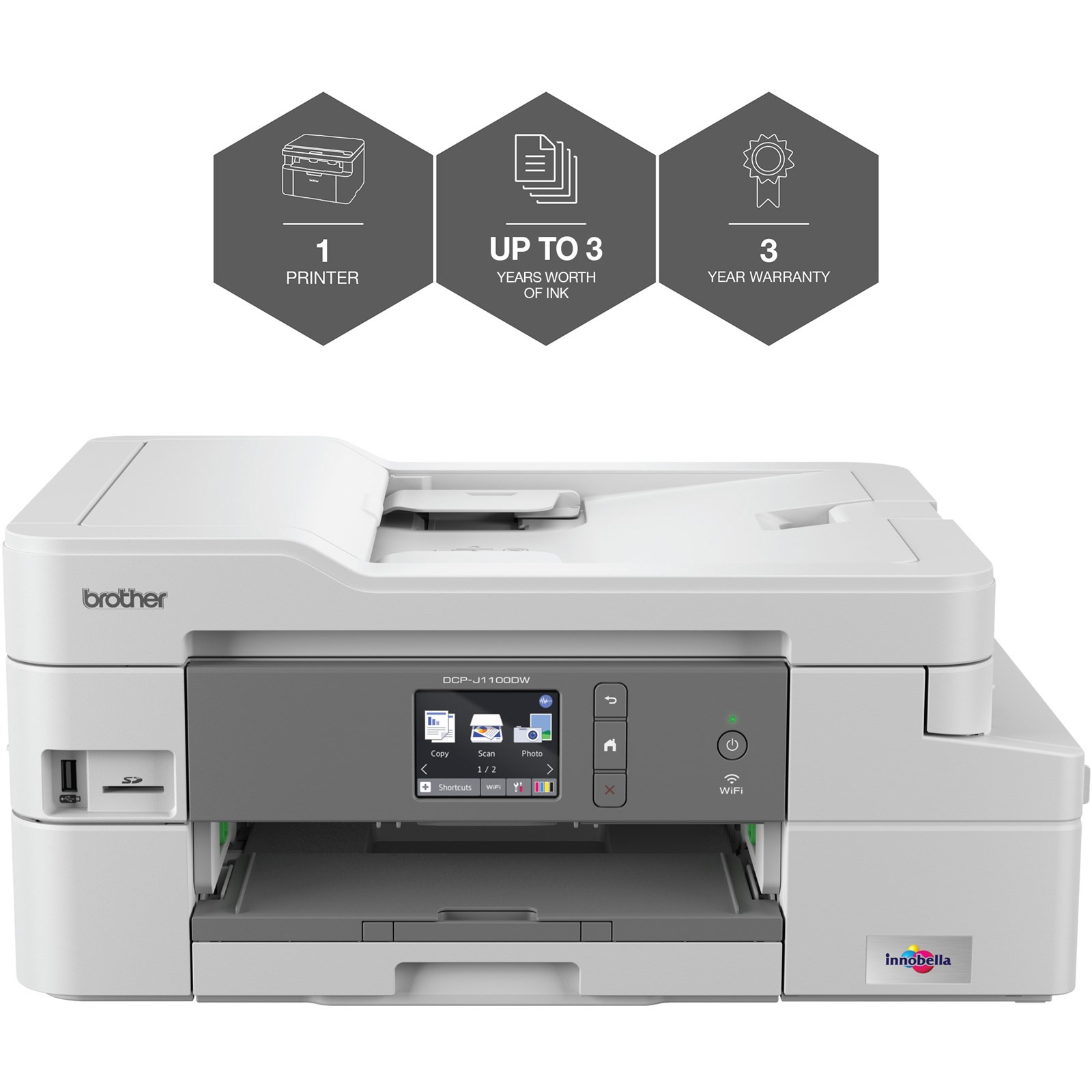 Brother DCP-J1100DW (A4) All-in-One Wireless Colour Inkjet