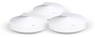 TP-LINK AC1300 Whole Home Mesh Wi-Fi System Bluetooth 4.2 LAN/WAN/USB (White) 3 Pack