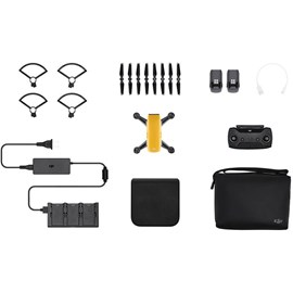 DJI Spark Quadcopter Mini Drone with Camera (Sunrise Yellow) Fly More Combo Pack *Open Box*