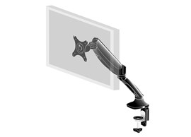 Sleek and Stylish Single Gas Spring Arm (Black) for Single Monitor