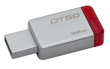 Kingston DataTraveler 50 32GB USB 3.0 Drive (Red)