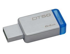 Kingston DataTraveler 50 64GB USB 3.0 Drive (Blue)