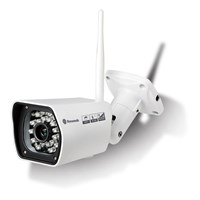 Dynamode DYN-750 Wireless Outdoor Bullet IP Camera With H.264, 24pc IR LEDs, 20m Range, 2.0 Megapixel, WansView, IP67, Day & Night, White