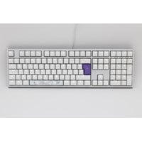 Ducky One2 White Edition USB Mechanical Keyboard (White) with Cherry MX Blue Switches, White LED