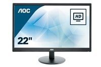 AOC E2270SWHN 21.5 inch LED Monitor - Full HD 1080p, 5ms, HDMI