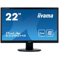 iiyama ProLite E2282HS-B1 - LED monitor - 22 (21.5 viewable) - 1920 x 1080 Full HD (1080p) - TN - 250 cd/mÝ - 1000:1 - 1 ms - HDMI, DVI-D, VGA - speakers - matte black