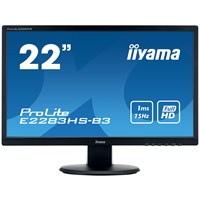 iiyama ProLite E2283HS-B3 21.5 inch LED 1ms Monitor - Full HD, 1ms