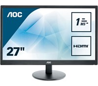 AOC E2770SH 27 inch LED 1ms Gaming Monitor - Full HD, 1ms, Speakers