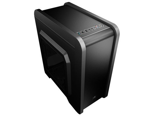 Aerocool QS240 Mid-Tower mATX Gaming Case With Side Window (Black) *Open Box*