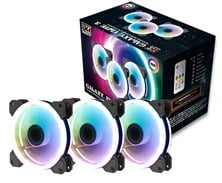 Xigmatek CY120 3-Pack 120mm RGB Fans with Controller