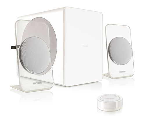 Microlab FC60 BT White 2.1 Speakers, 105W RMS, Remote