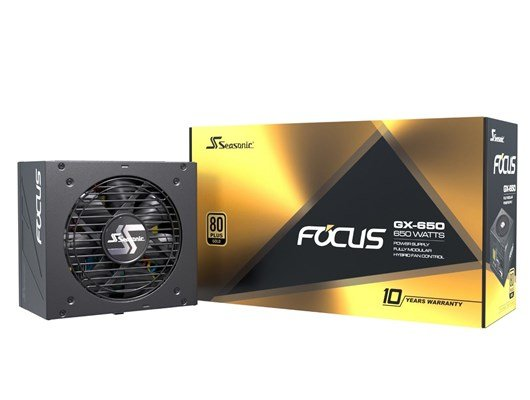 Seasonic Focus GX 650W Modular 80+ Gold PSU