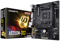 Gigabyte AB350M-DS2 mATX Motherboard for AMD AM4 CPUs