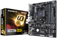 Gigabyte AX370M-DS3H mATX Motherboard for AMD AM4 CPUs