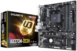Gigabyte AX370M-DS3H AMD Socket AM4 Motherboard